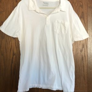 Old navy Men's white polo with pocket